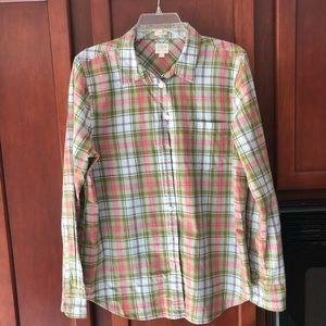 JCrew Factory Plaid Shirt - size L, Boy Fit